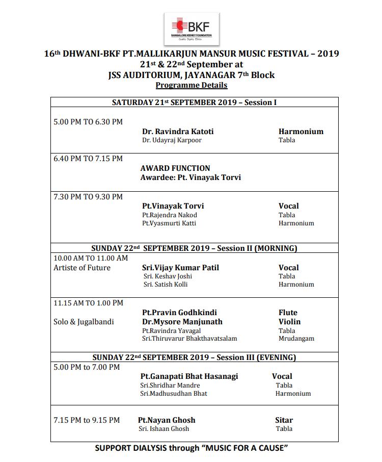 Upcoming 16th Dhwani 2019